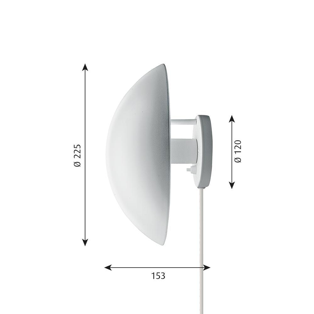 Louis Poulsen Wandlampe PH Hat Weiß 6