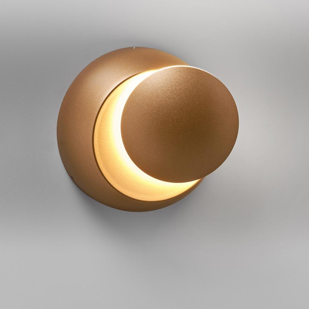 Licht-Trend drehbare LED-Wandleuchte Moon 350lm Goldfarben 2