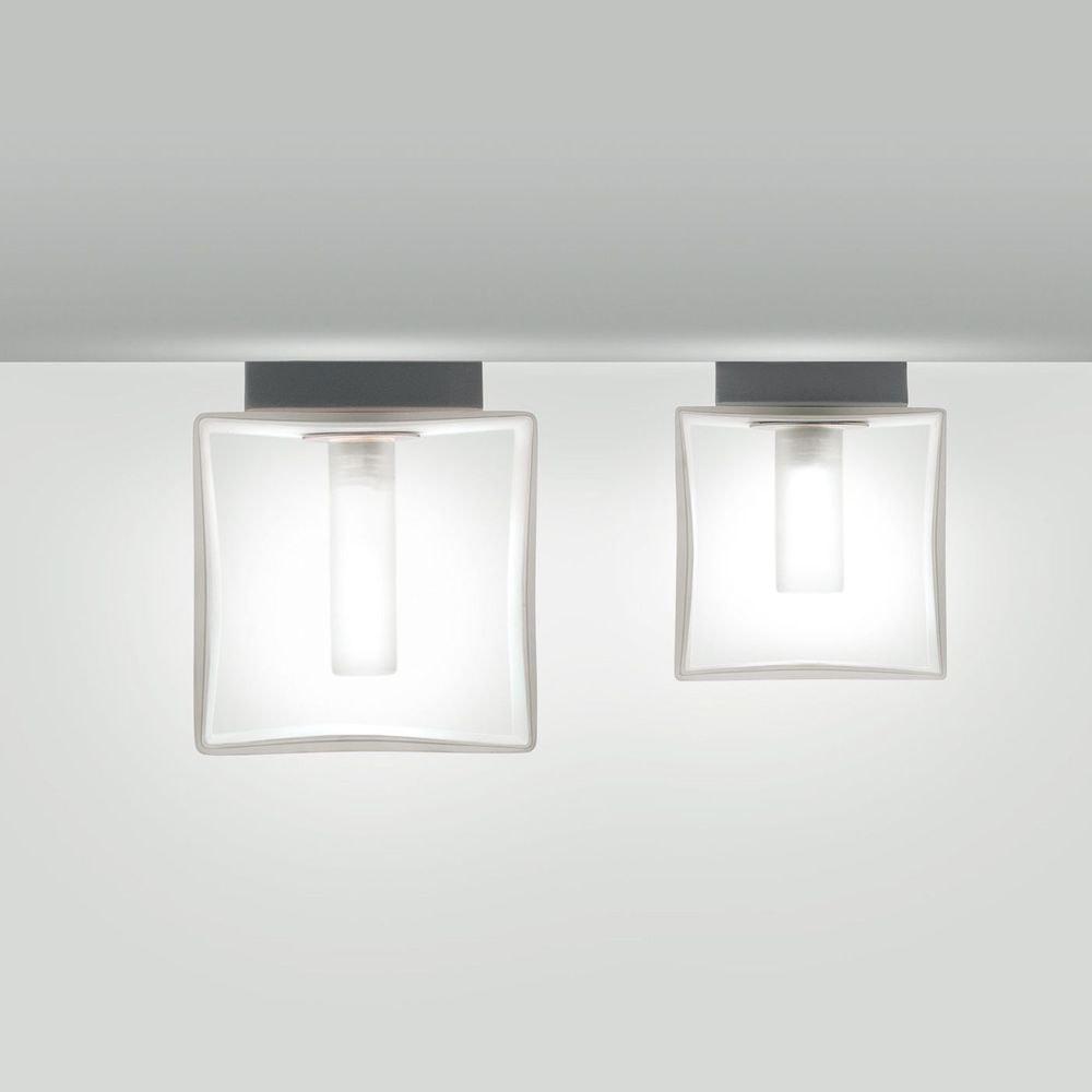 Panzeri Domino Wandleuchte mit Glaswürfel 1