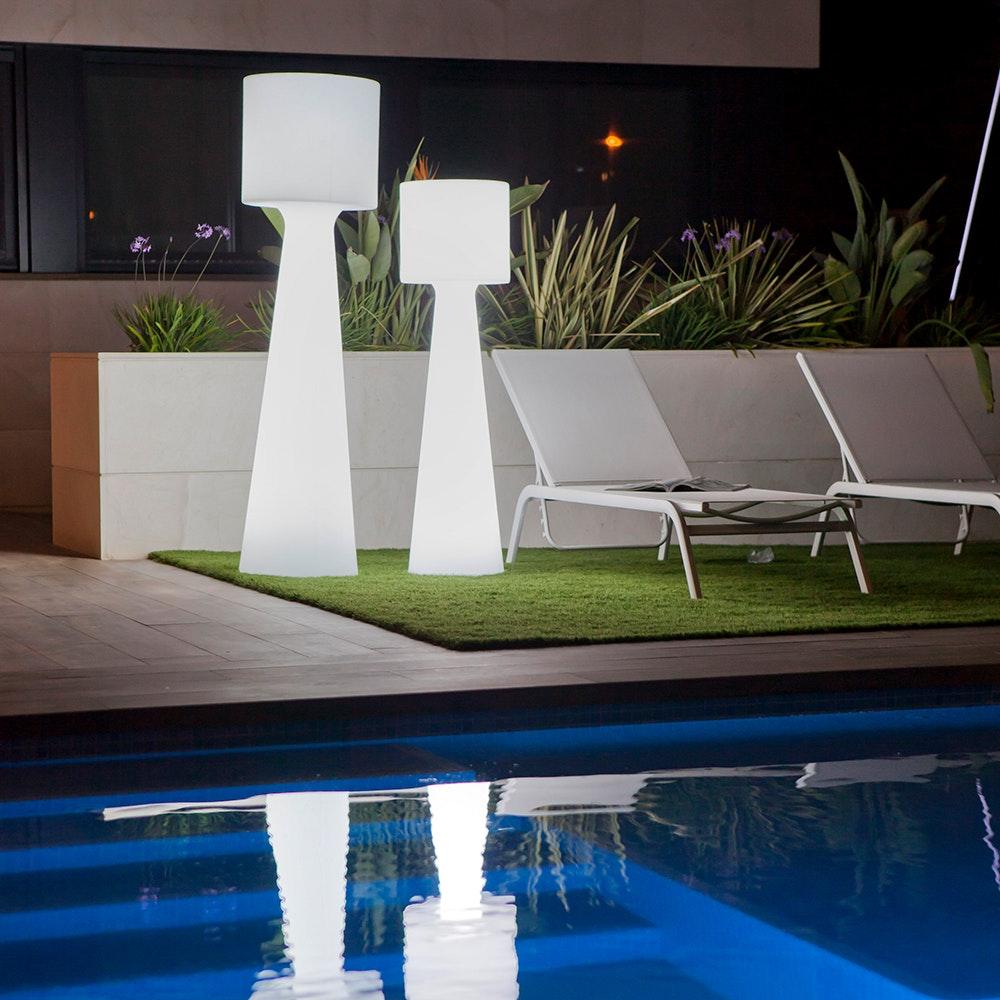 Licht-Trend LED-Außen-Stehleuchte Grace 170cm mit Akku und Fernbedienung