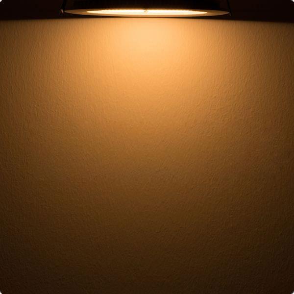 Indirektes Einbau LED-Panel 1030lm dimmbar Ø 17,3cm Warm Weiß 3