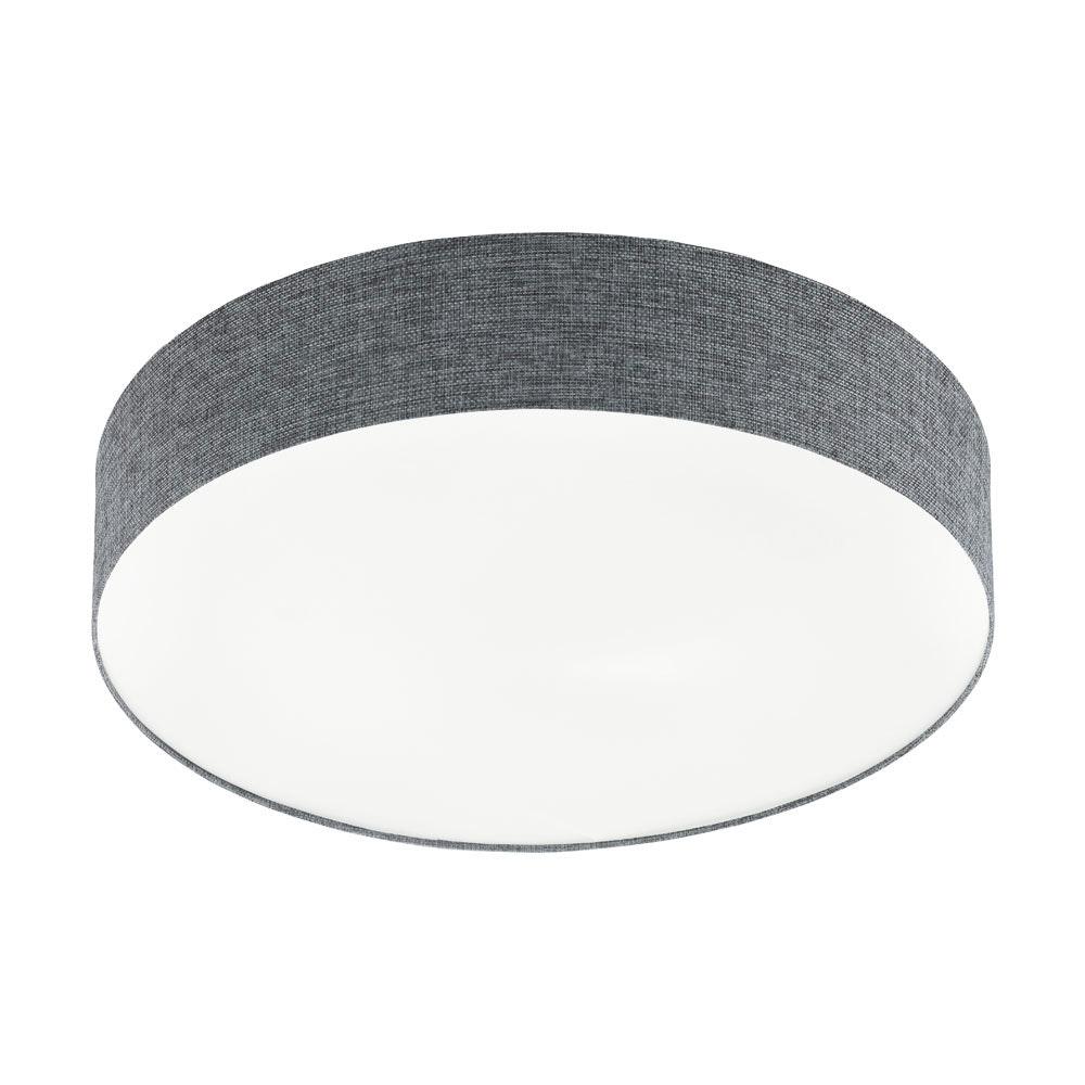 LED Deckenleuchte Romao Ø 57cm Stoff CCT + Fernbedienung Weiß, Grau
