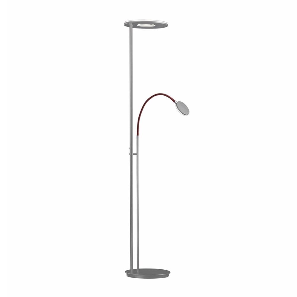 Holtkötter LED-Deckenfluter NOVA FLEX Alu-Matt, Rot Tastdimmer 6500+2200lm warm 1