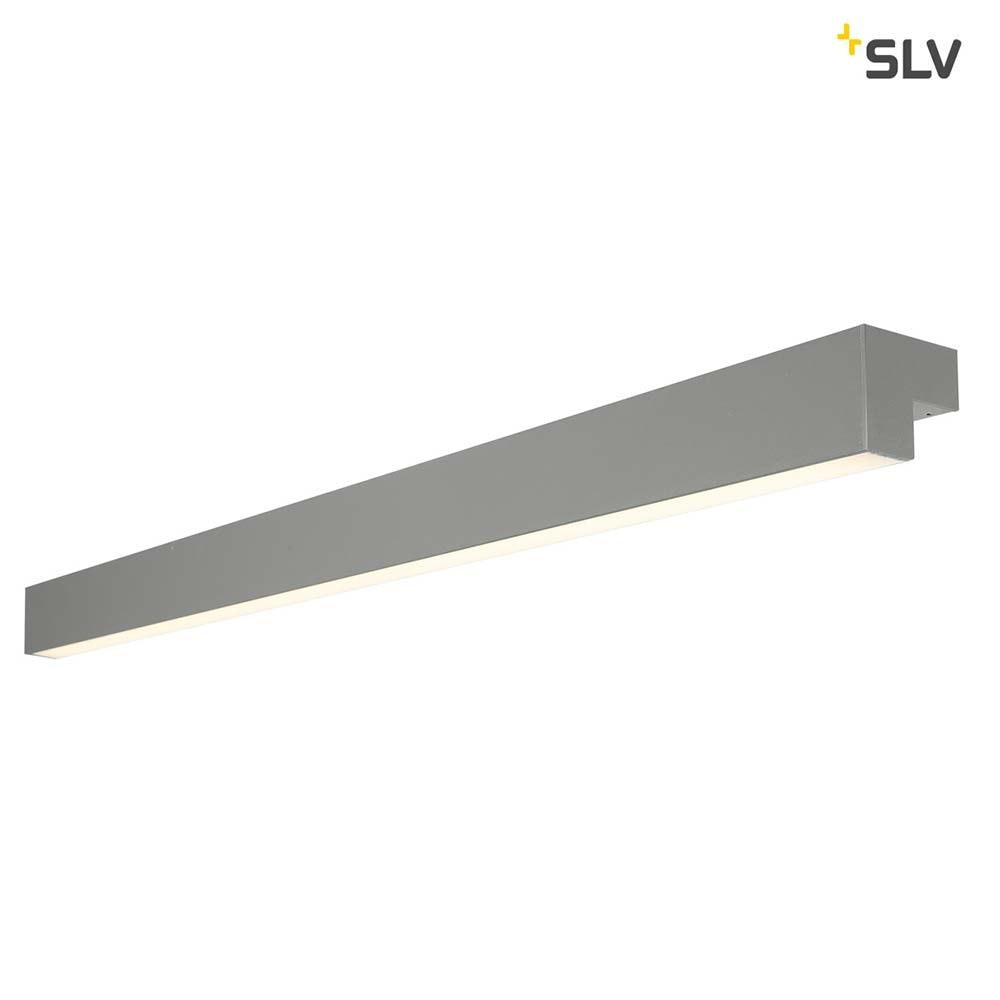 SLV L-Line 120 LED Wand- & Deckenleuchte IP44 Mausgrau 1
