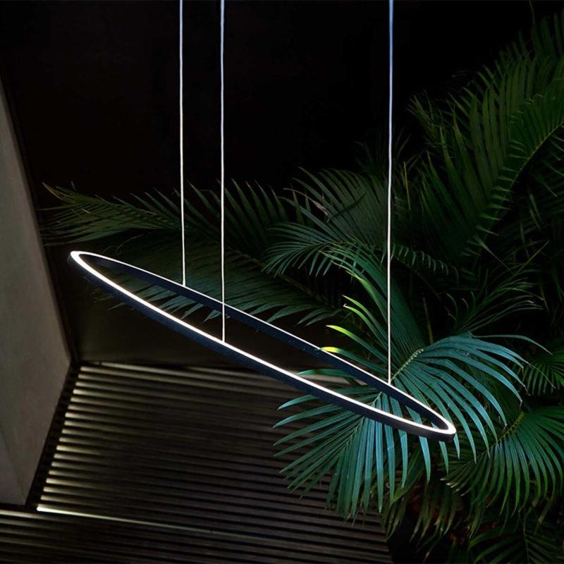 Nemo Ellisse Minor Up LED Pendelleuchte 97x40cm indirekt thumbnail 5