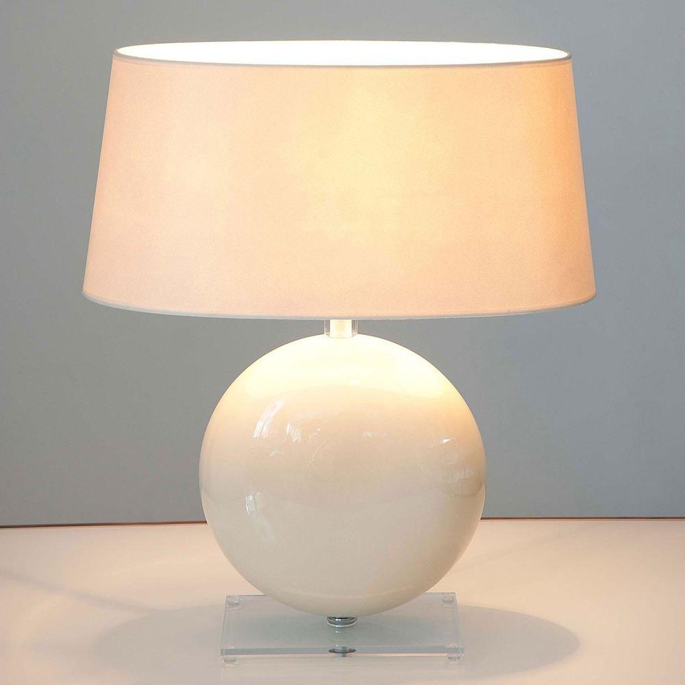 Tischleuchte Billiardo Keramik-Plexiglas Creme-Klar 1