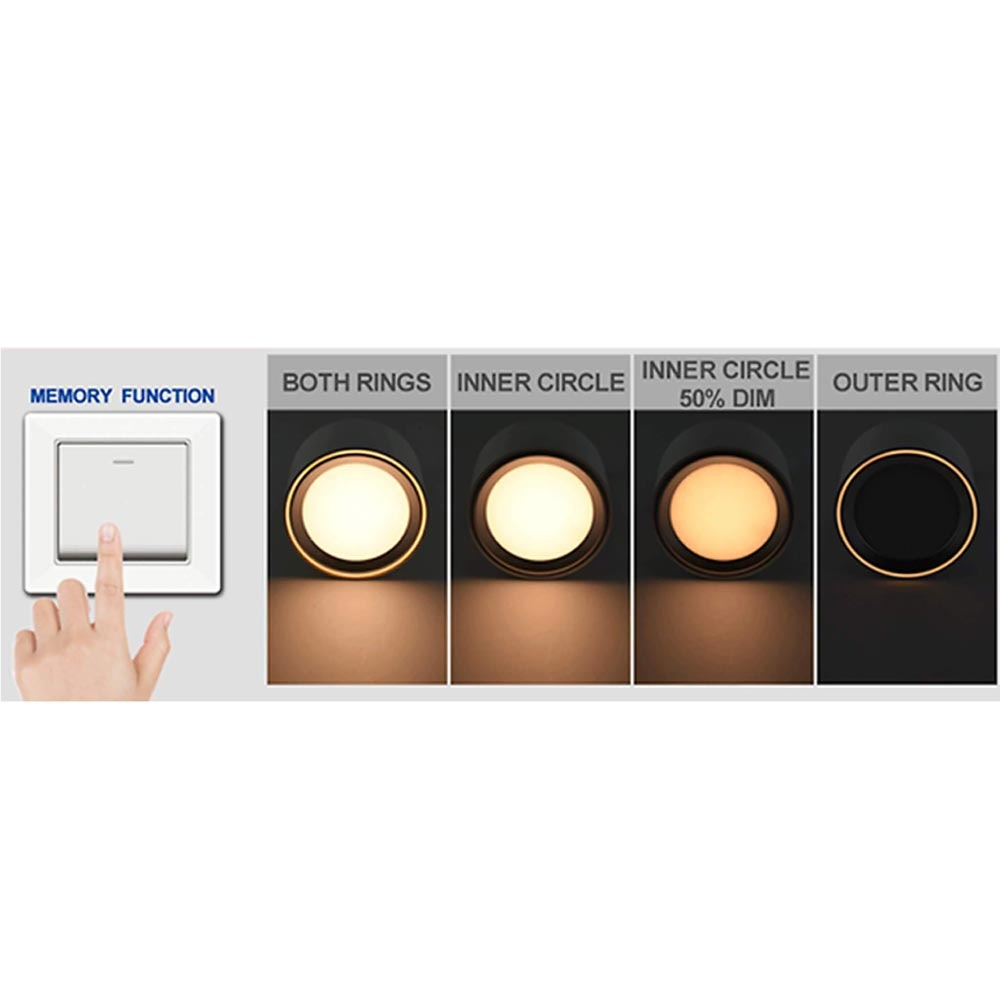 Nordlux LED Deckenleuchte Fallon Weiß & Gebürsteter Stahl 2