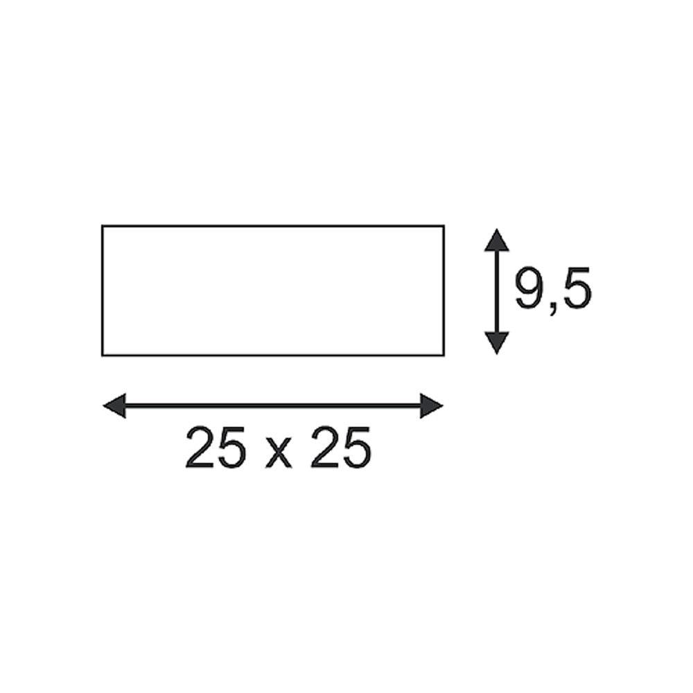 SLV Deckenleuchte GL 104 E27 eckig weisser Gips max. 2x25W 2