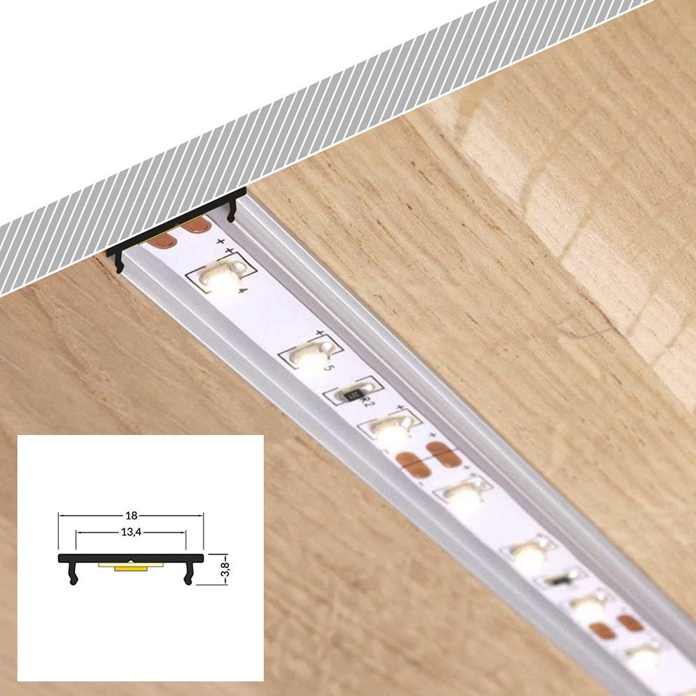 LED Aluminium Profil 2m alle Varianten  4
