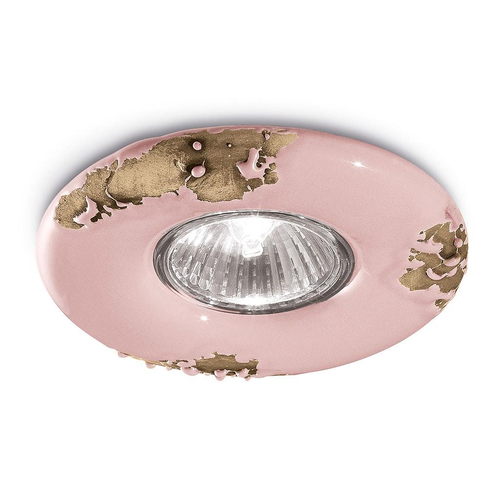 Ferroluce Vintage Keramik-Einbaustrahler Ø 11cm thumbnail 4