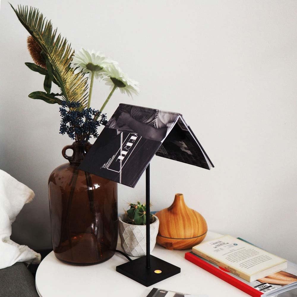s.LUCE Book Buchständer Tischleuchte mit Touchdimmer & Sensor 13