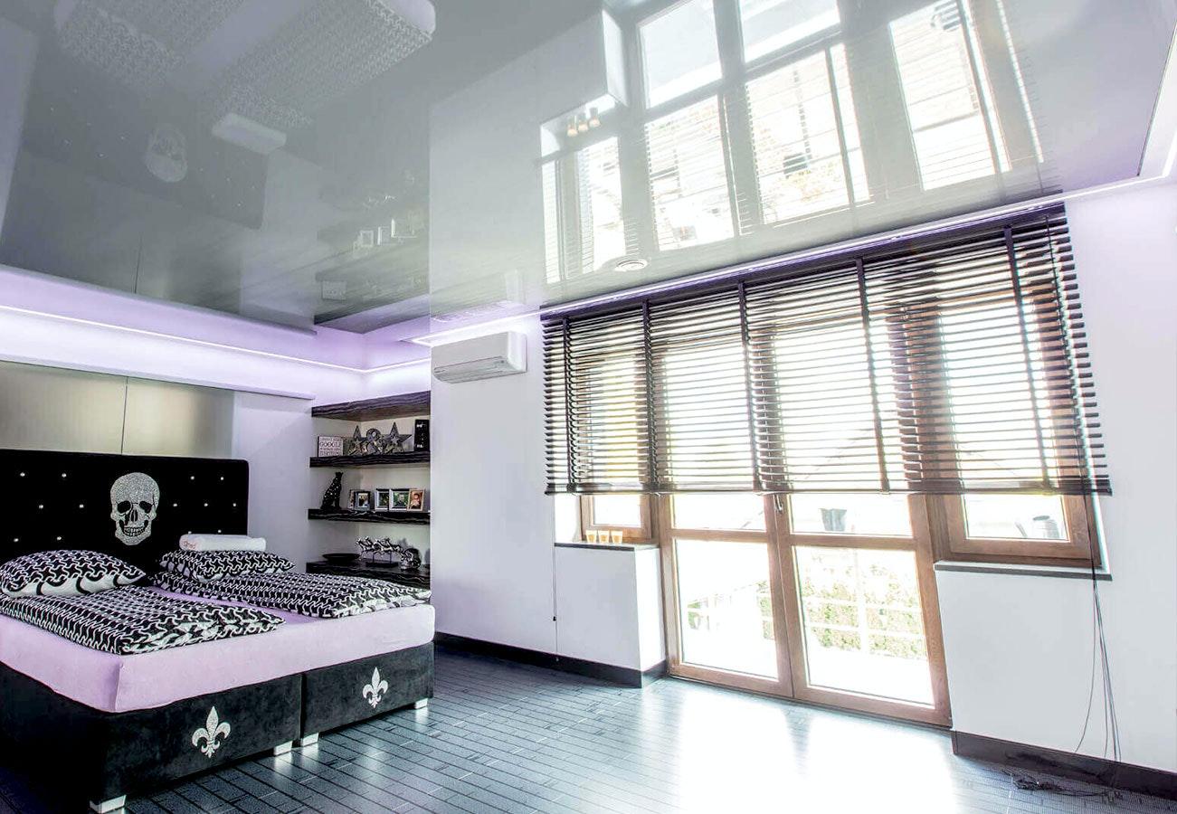 LED-Spannlichtdecke Schlafzimmer Weiß