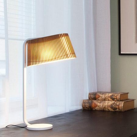 LED Tischleuchte Owalo 7020 aus Holz 50cm 1