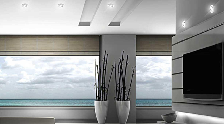 Einbaustrahler Movibile Wohnzimmer und TV Wand