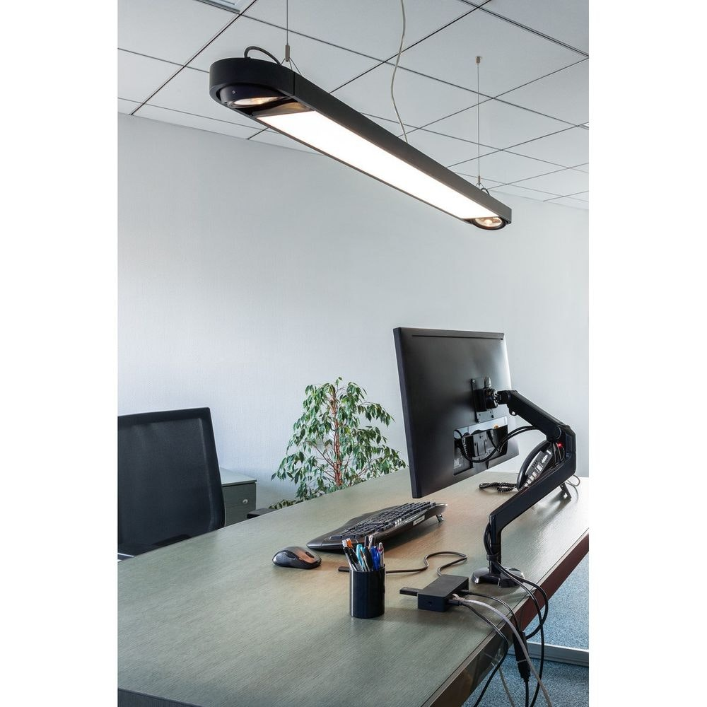 SLV Aixlight R2 Office Long Pendelleuchte 153cm Schwarz LED + 2xES111 2