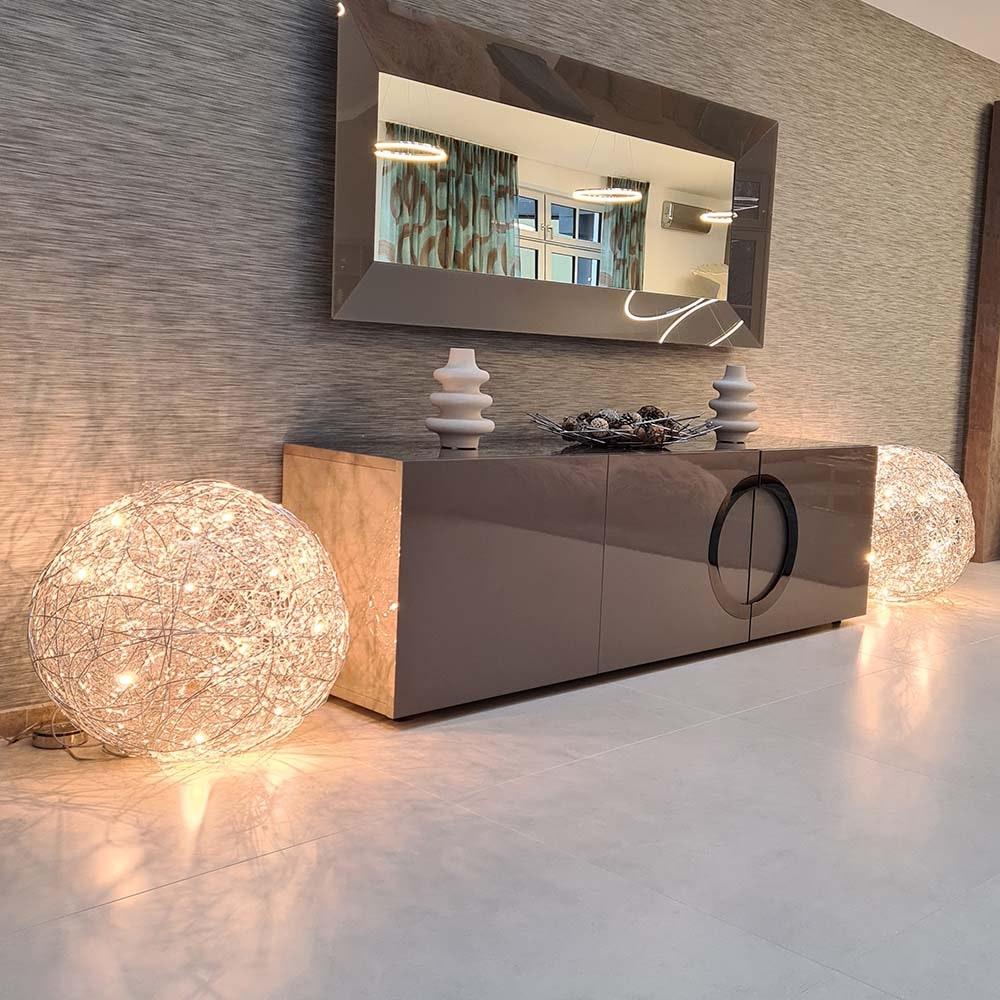 Catellani & Smith Fil de Fer F LED Bodenleuchte Drahtkugel Dimmbar