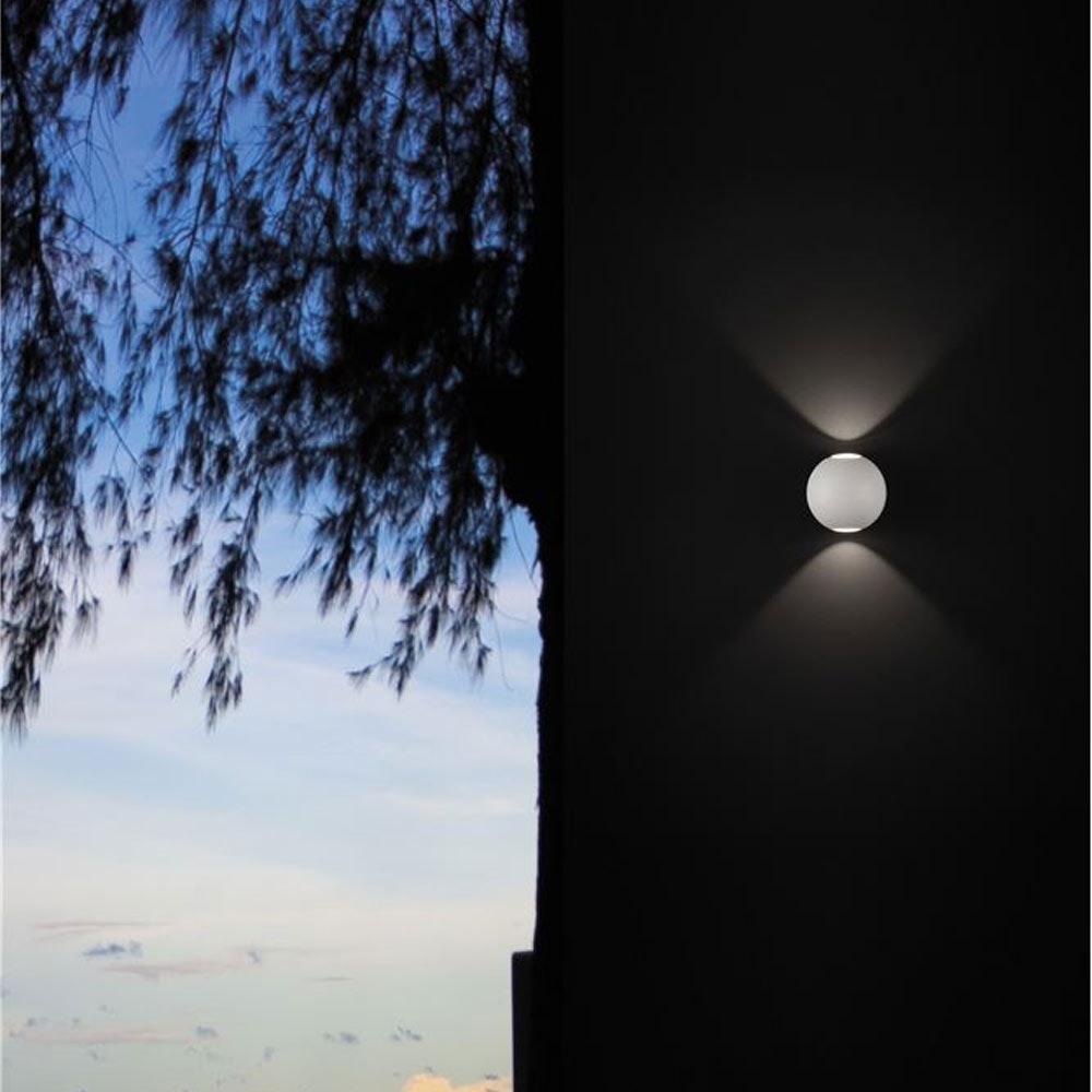 Nova Luce Zari Mini Wandleuchte 5cm Lichtstrahlen IP54 6