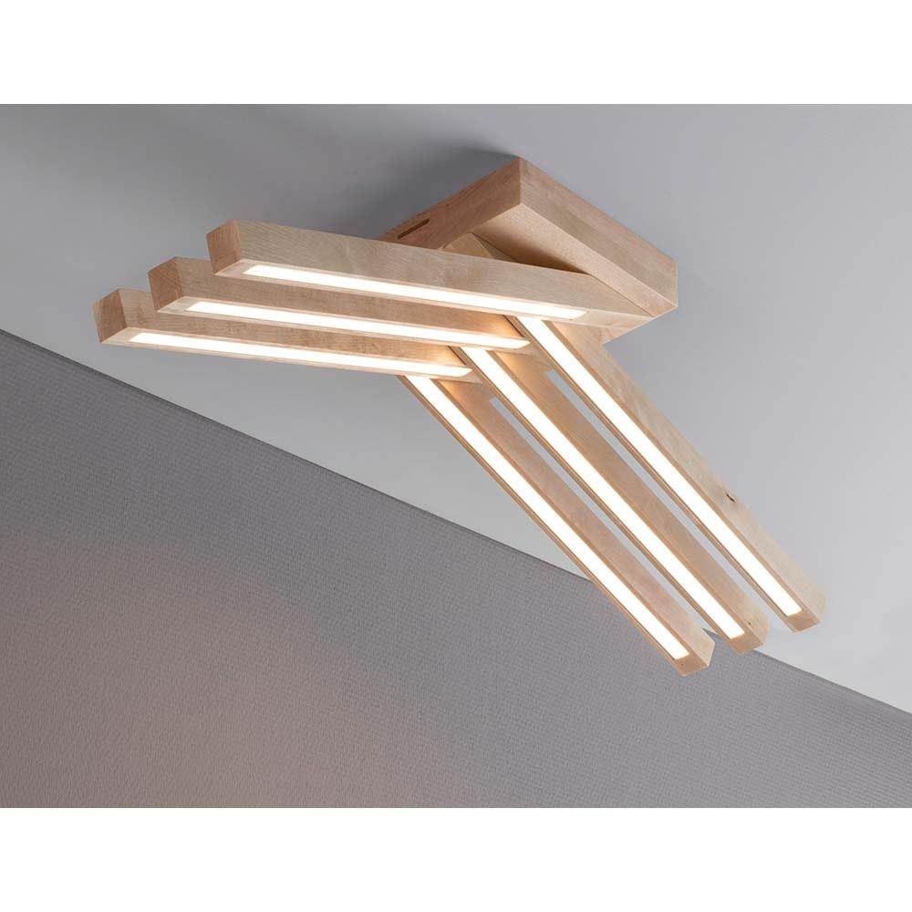 LED Deckenlampe Linus Crossed 2520lm Birke 1