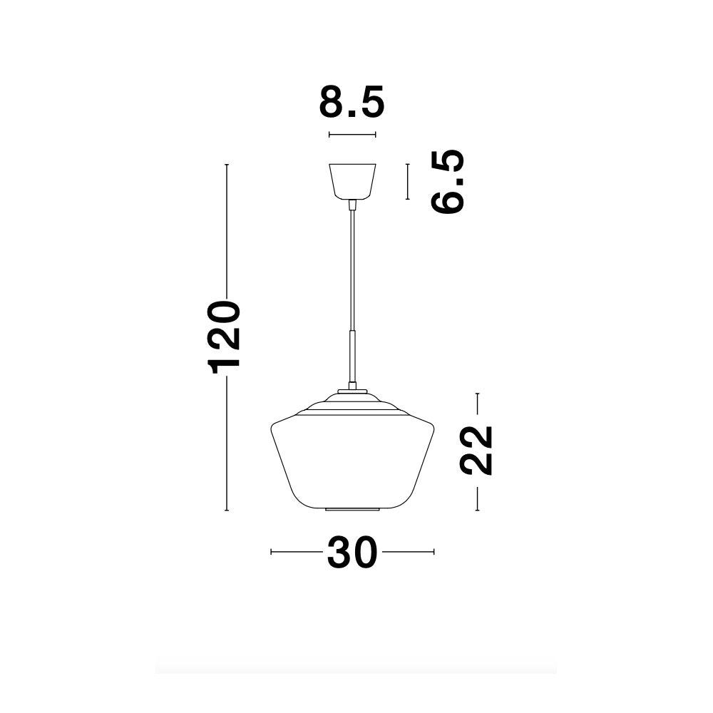 Nova Luce Veiro Hängeleuchte mundgeblasenes Rauchglas 11