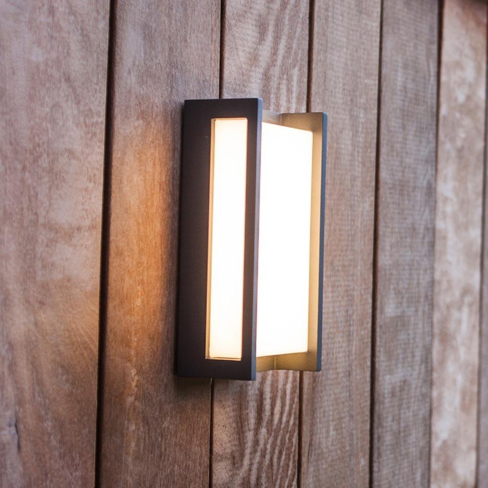LED Außen-Wandleuchte Qubo IP54 Anthrazit