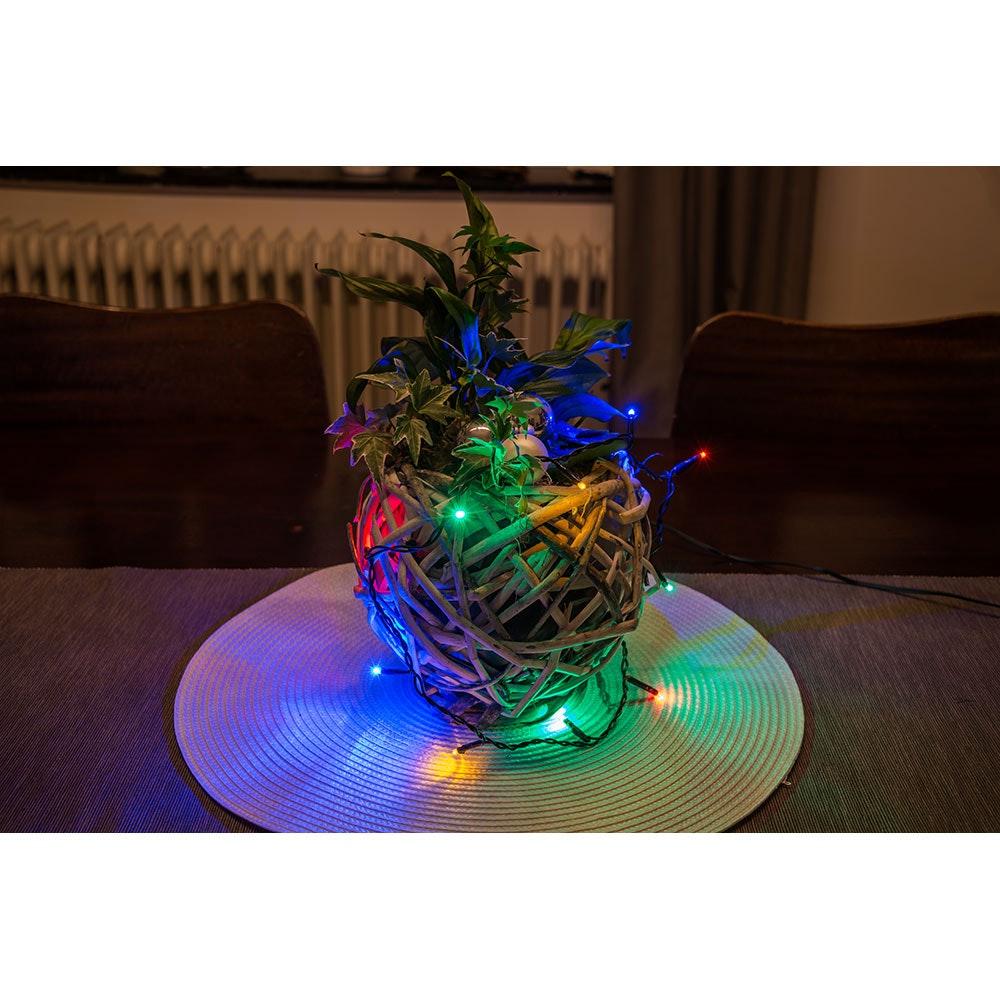 Micro LED Lichterkette verschweißt 50 bunte Dioden 5