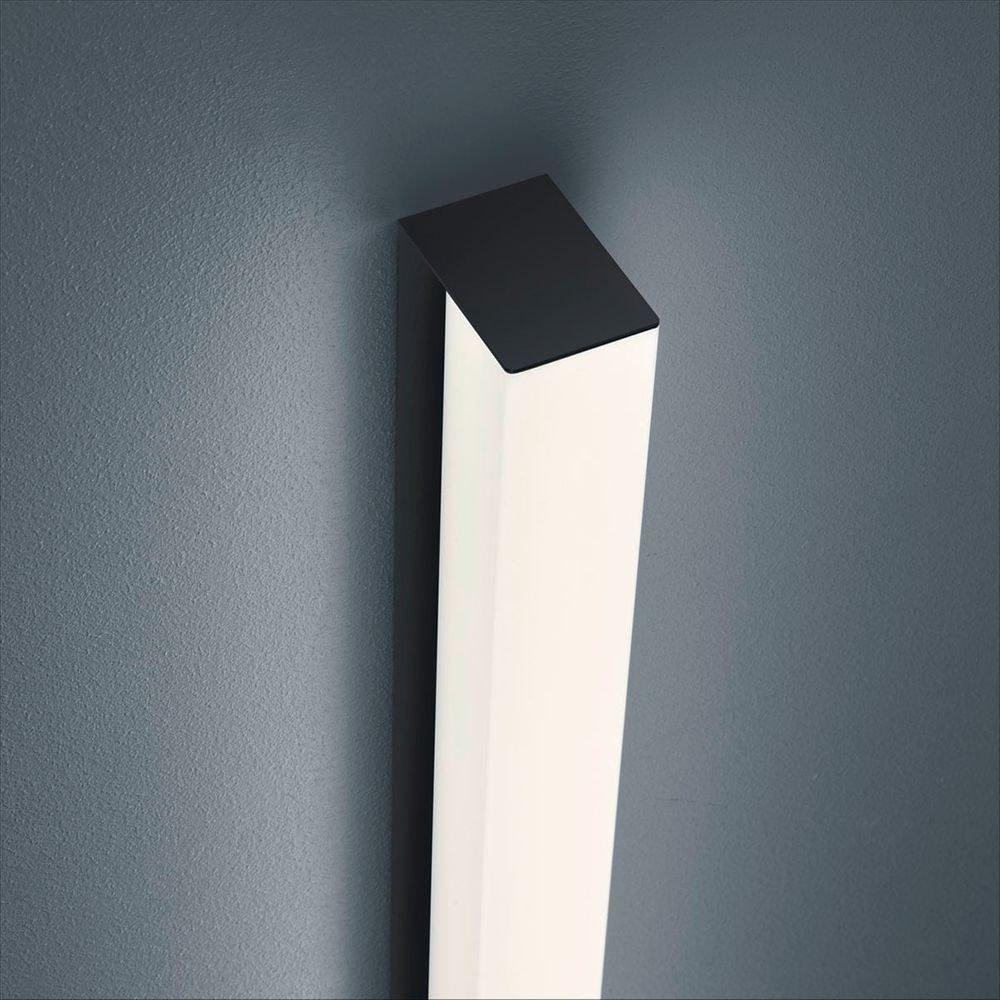 Helestra LED Spiegellampe Lado 90cm 1560lm Schwarz warmweiss 1