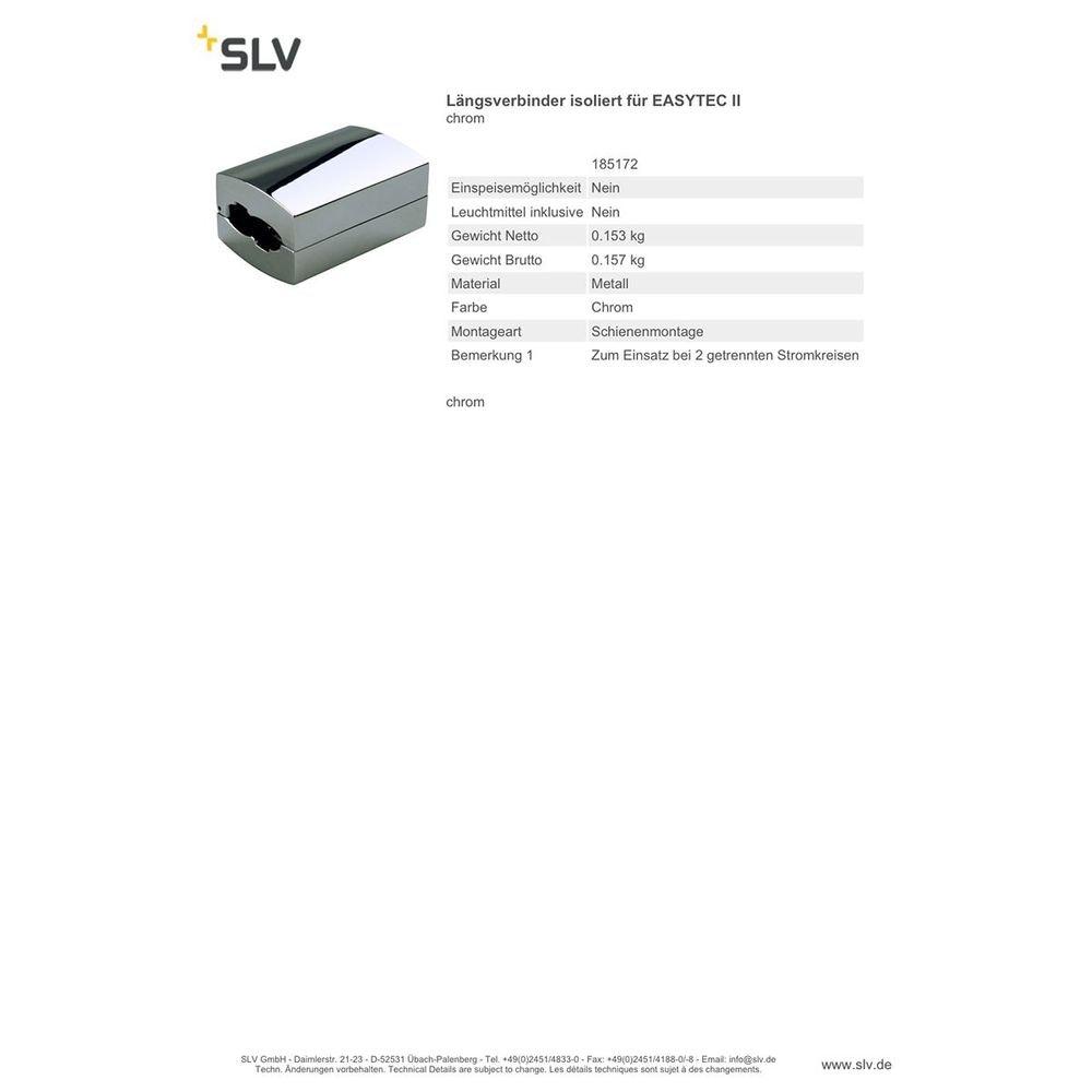 SLV Längsverbinder isoliert für EASYTEC II Chrom 2