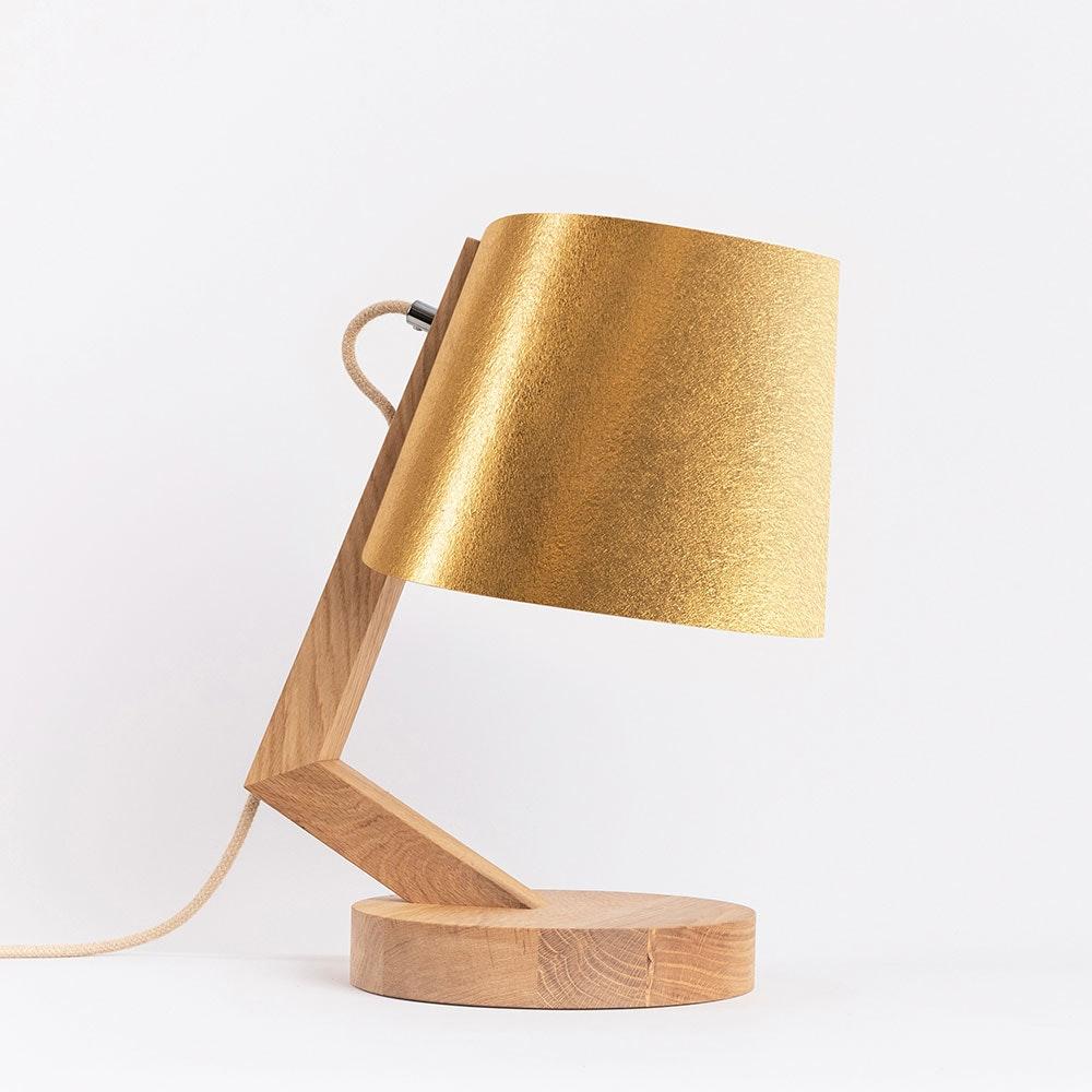 Holz Tischlampe mit Schirm Zylindrisch thumbnail 4