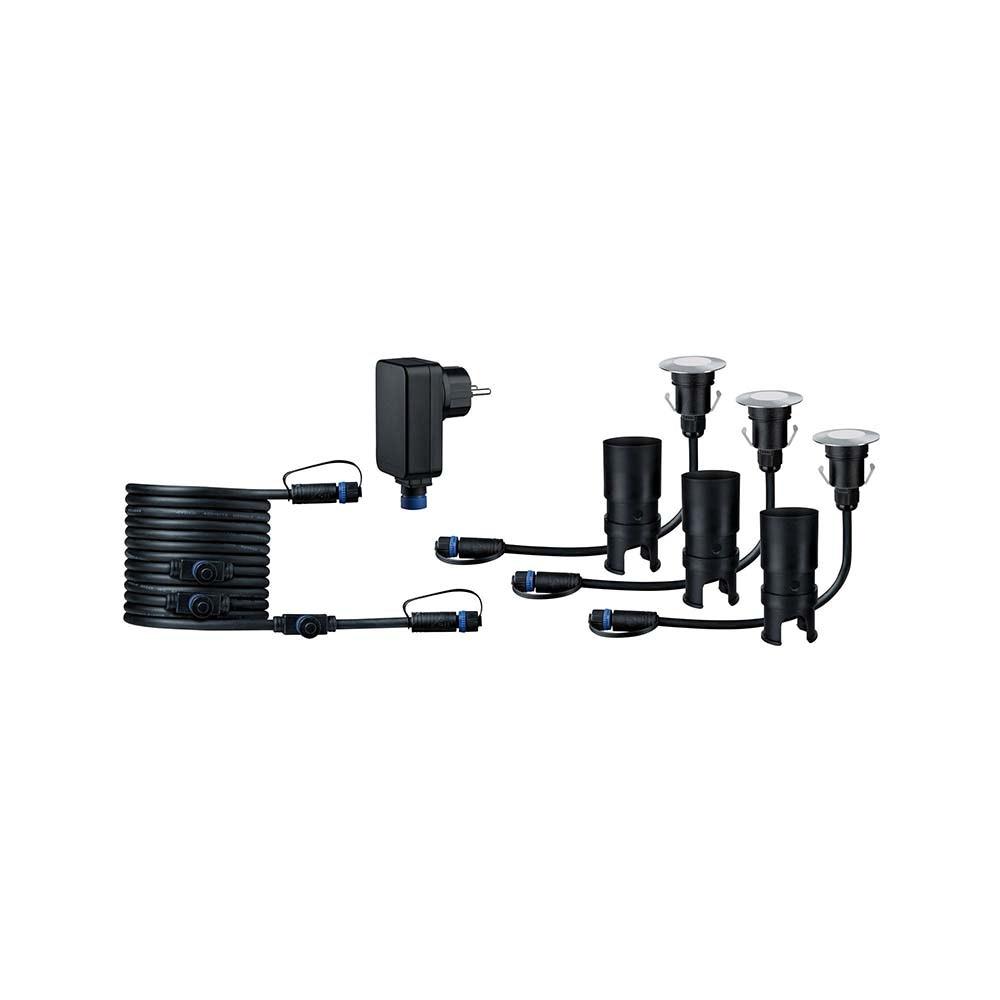 LED Plug & Shine Floor Mini Basisset IP65 24V 3000K 3x2,5W 1
