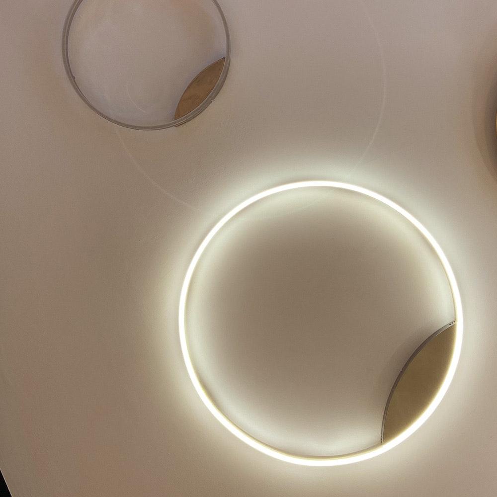 s.LUCE LED Ring 100 Wand & Decke Dimmbar Chrom 8