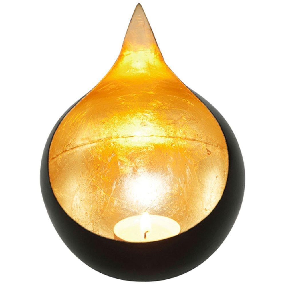 Windlicht Canestro Metall Schwarz-Gold thumbnail 3