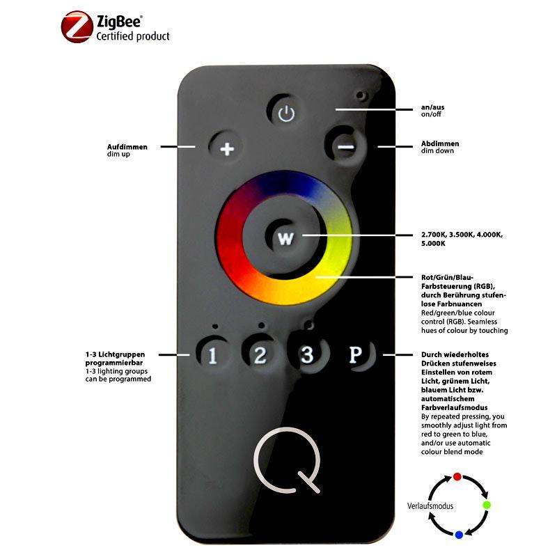 Intelligente LED Deckenlampe Q-Ariana RGB+CCT 3