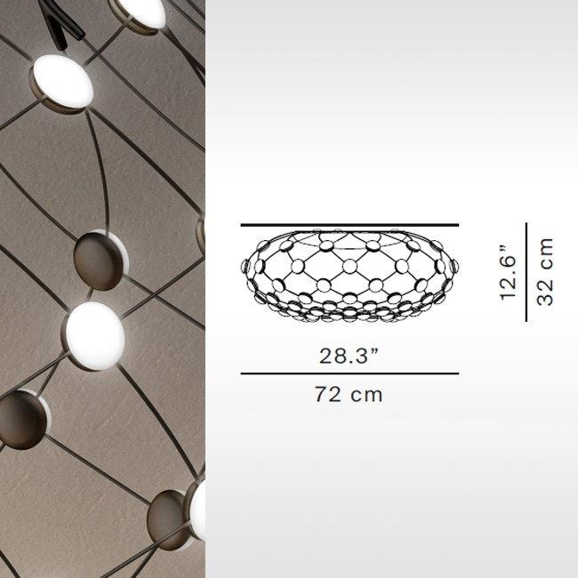 Luceplan LED Deckenlampe Mesh Ø 72cm 6