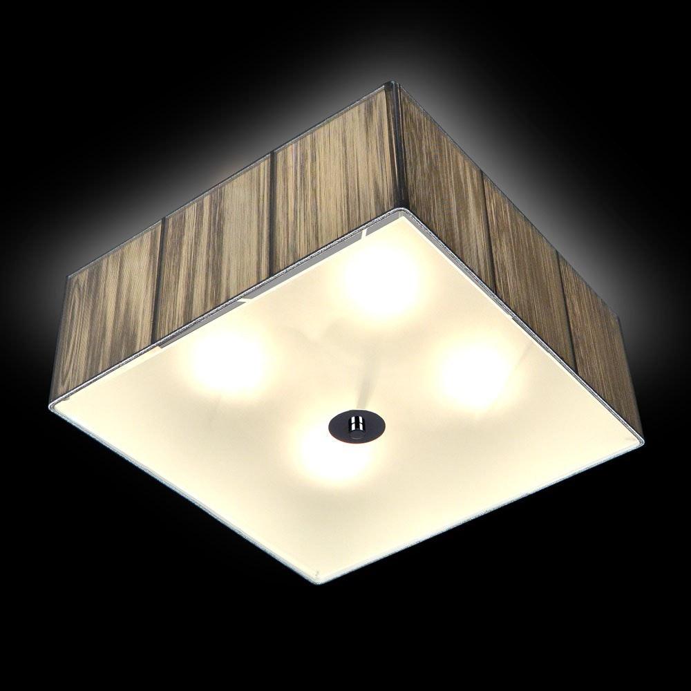 s.LUCE Twine Stoff-Deckenleuchte 45x45cm Silberfarben thumbnail 4