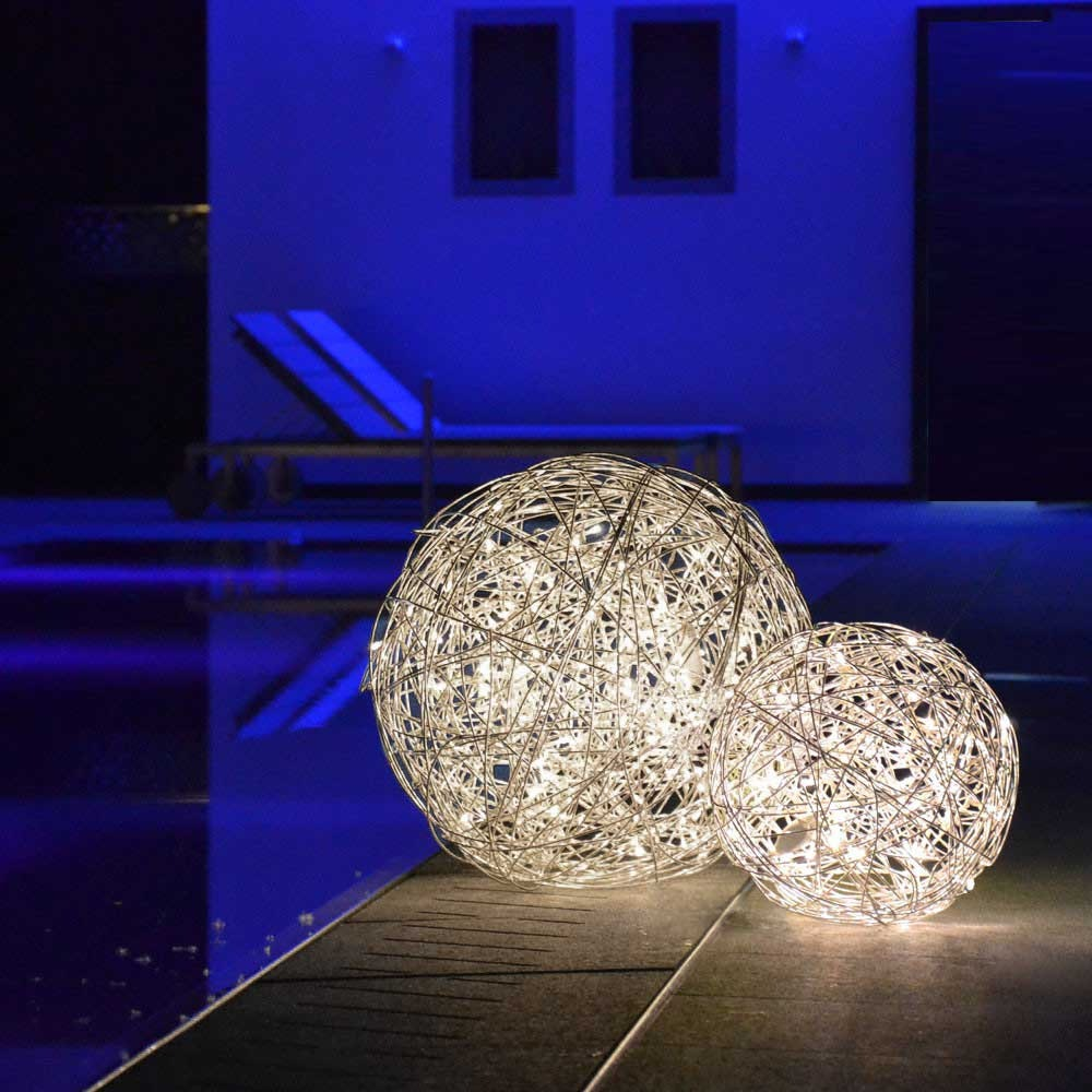 s.LUCE Mesh L LED-Drahtkugel Ø 50cm Innen & Aussen Warmweiß