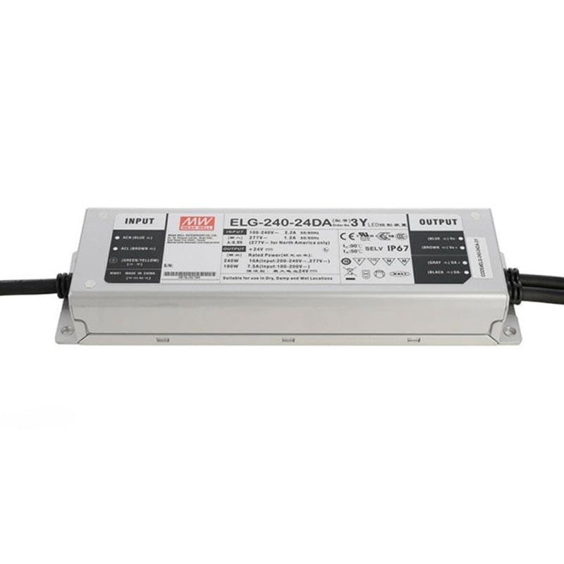 240W zertifiziertes Einbaunetzteil Dali Dimmbar 24V IP65