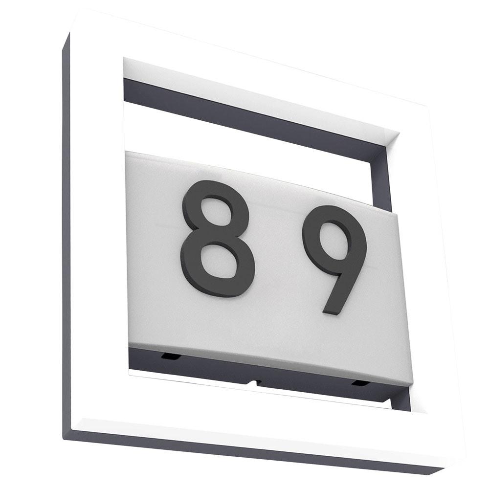 Alice LED-Außenwandleuchte mit Hausnummer IP44 800lm Anthrazit 5194301118 3