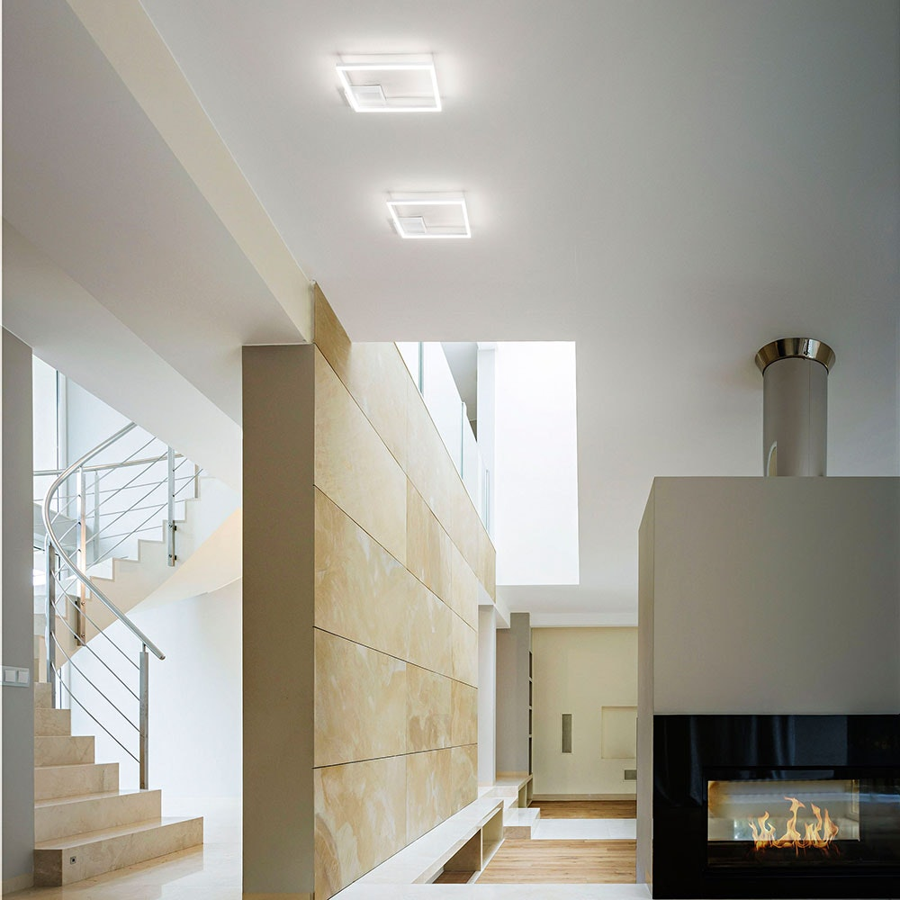 Fabas Luce Bard 3000k LED Deckenleuchte Weiß