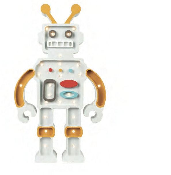 Little Lights Kinder Wand- & Tischleuchte Roboter  1