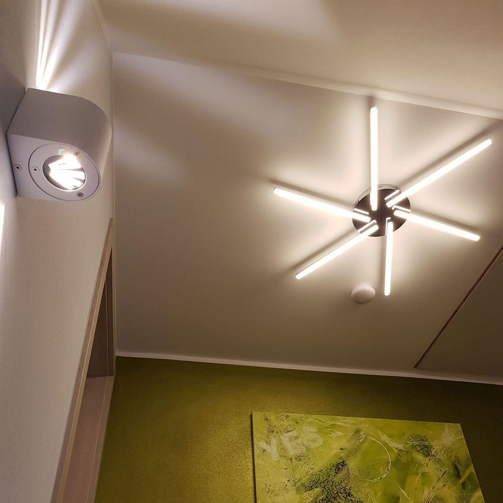 Baleno Aussen LED-Wandlampe + Lichtfilter Grau 2