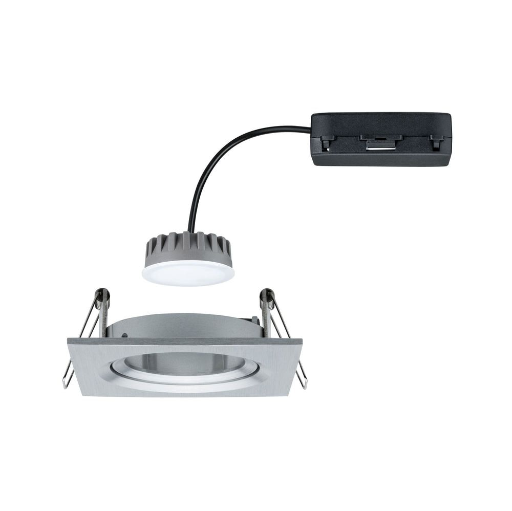 LED Einbaustrahler Nova Plus Coin Dimmbar 2700K Alu