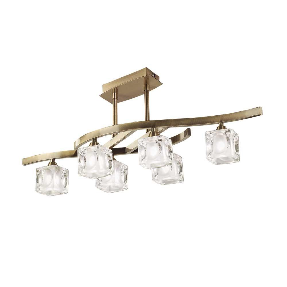 Mantra 6-flammige Deckenlampe Cuadrax Cristal 2