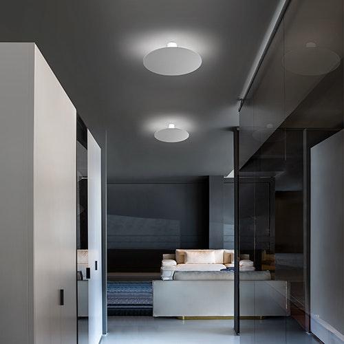 Studio Italia Design Puzzle Mega Round Ø 80cm Wand- & Deckenlampe Marmor thumbnail 3