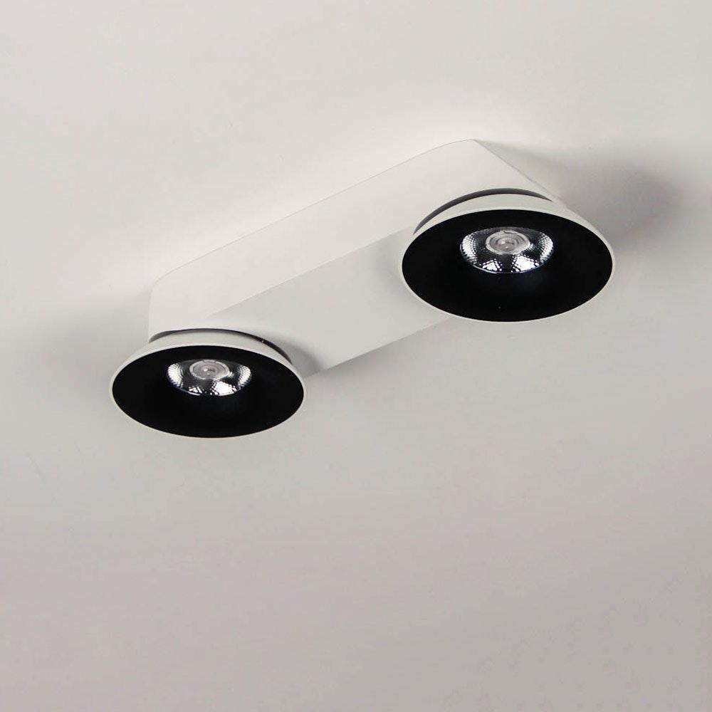 Santa 2er LED Aufbauspot schwenkbar & dimmbar 2 x 810lm Weiß, Schwarz 6