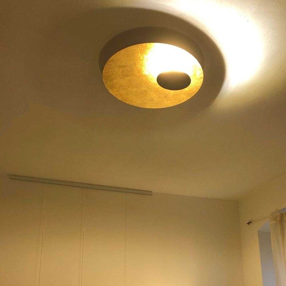s.LUCE LED Wand- und Deckenlampe Plate Blattgold 17