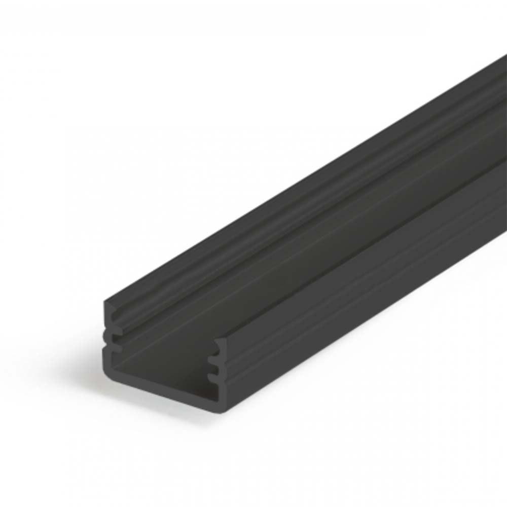Aufbauprofil mini 200cm Schwarz ohne Abdeckung für LED-Strips 1