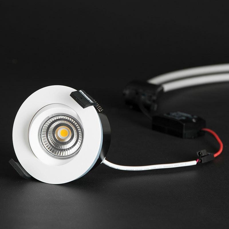 Brumberg LED Decken-Einbauleuchte Indiwo83 Nickel-Matt dim2warm 5