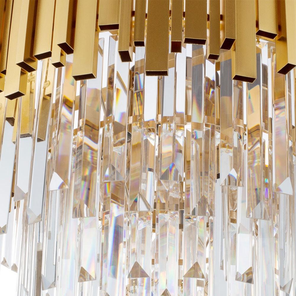 Nova Luce Grane Kristall Kronleuchter Goldfarben 5