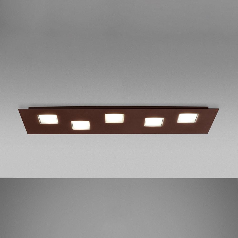 Fabbian Quarter LED-Deckenleuchte rechteckig 5-flammig 5