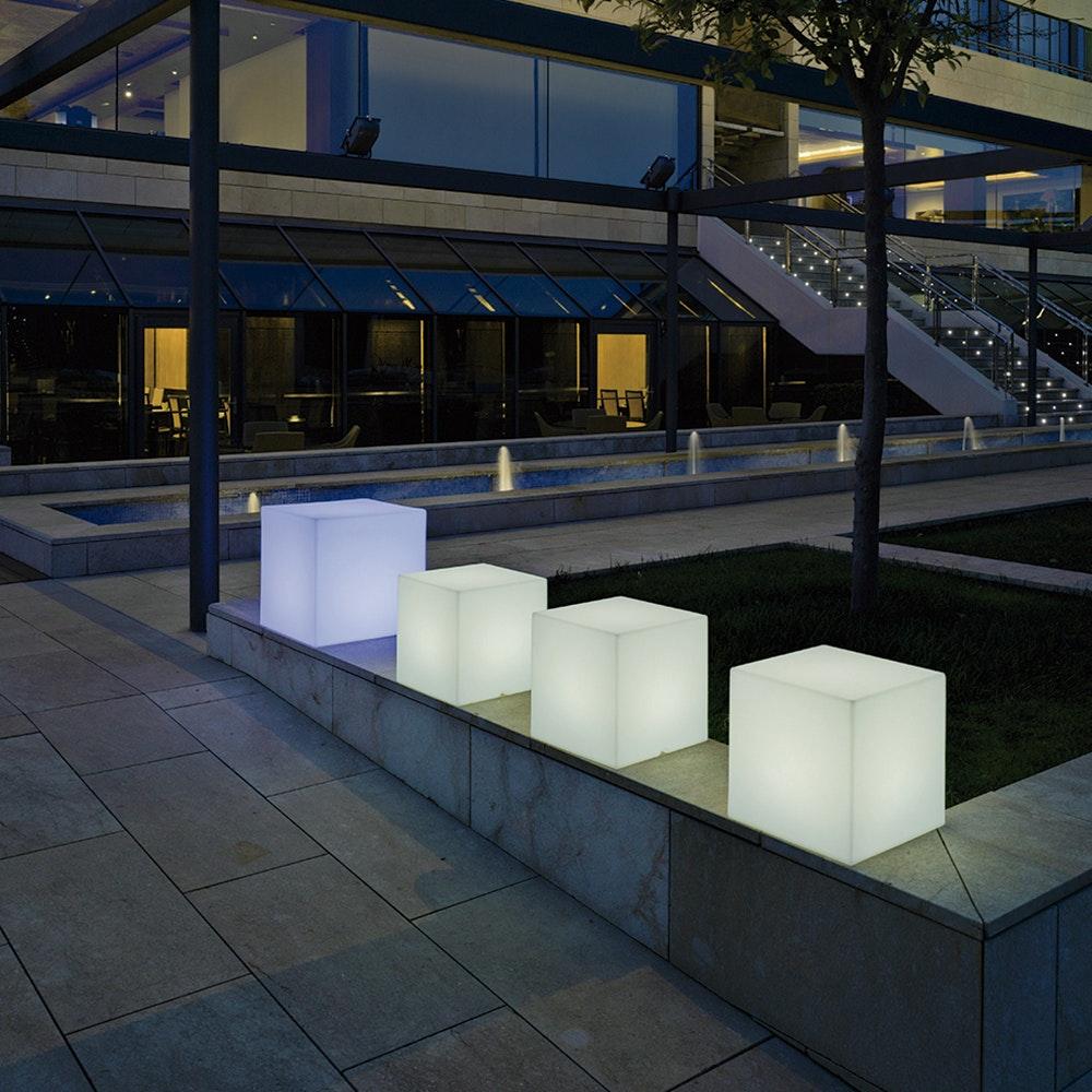 Licht-Trend Cuby LED-Dekoleuchte mit Akku und Solar 1